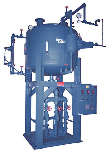 21,000 pph vertical spray type deaerator