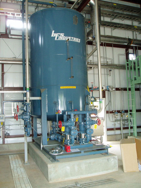 3500 gallon vertical surge system